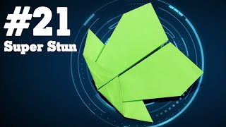 How to make a paper airplane that Flies - Simple Origami paper planes for Kids #21| Super Stun