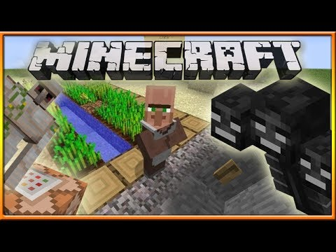 Minecraft 1.8 Snapshot 14w04a: Power Frames NPC Farmers Wither Golem Auto Spawn