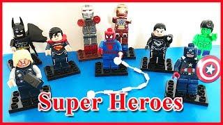 Đồ chơi lắp ráp LEGO siêu anh hùng Thor, Super Man, Spider Man, Captain America.. (Chim Xinh)