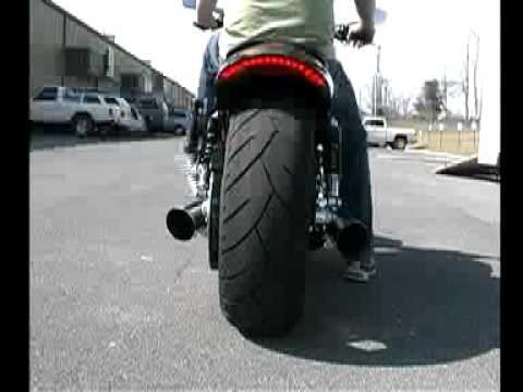 2009 HARLEY-DAVIDSON V-ROD MUSCLE VRSCF and 2005 HARLEY SPORTSTER EXHAUST PIPES by TAB PERFORMANCE Video