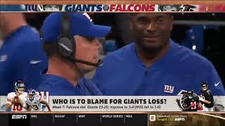 Stephen A Smith reacts to Falcons def Giants-First Take 10/23/18