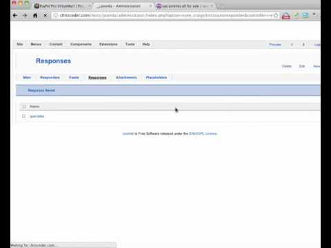 2 Minute Get Started Video - Craigslist RSS Auto Responder for Joomla