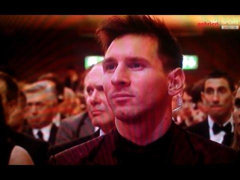 Messi reaction to winnings the Ballon D'Or 2014 to Cristiano Ronaldo - Wins Fifa Ballon D' Or