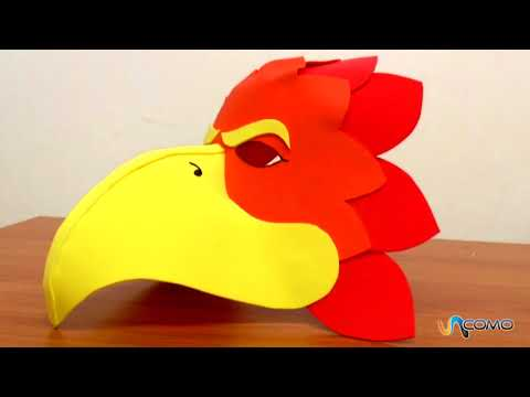 Máscara pájaro con goma Eva