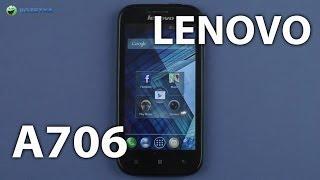 Демонстрация Lenovo A706 Black