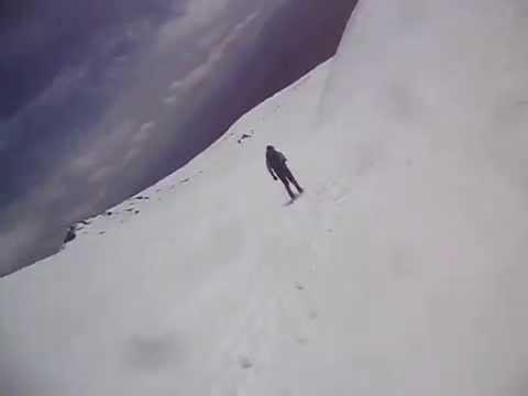 Skiing Avalanche Gulch mt Shasta Shasta Skiing Down Avalanche