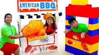 Wendy and Alex Pretend Play Cooking Giant BBQ Playset Toy Restaurant Cafe