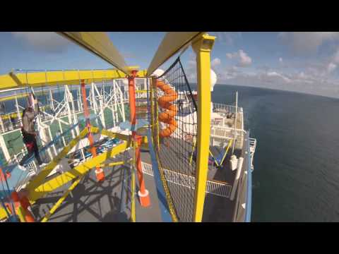 Norwegian Breakaway Ropes Course (part 1)