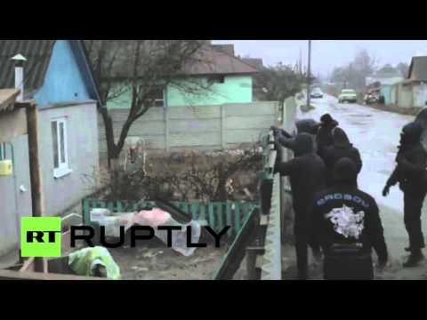 Радикалы из «Азова» напали на дом начальника райотдела милиции в Харькове Новости 22 12 2015