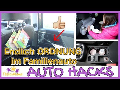 17 AUTO HACKS für ELTERN - Ordnung im Familienauto / mom hacks / Täglich Mama