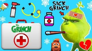 Make THE GRINCH'S HEART GROW in THE GRINCH MOVIE HOSPITAL GAME w/ Surprise Toys