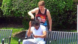 Shaving Peoples Heads Prank