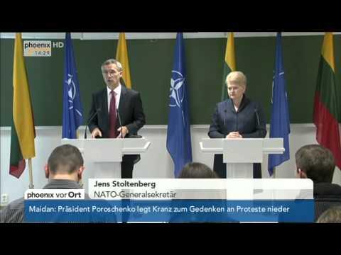 Ukrainekonflikt: NATO-Generalsekretär Stoltenberg in Litauen am 21.11.2014