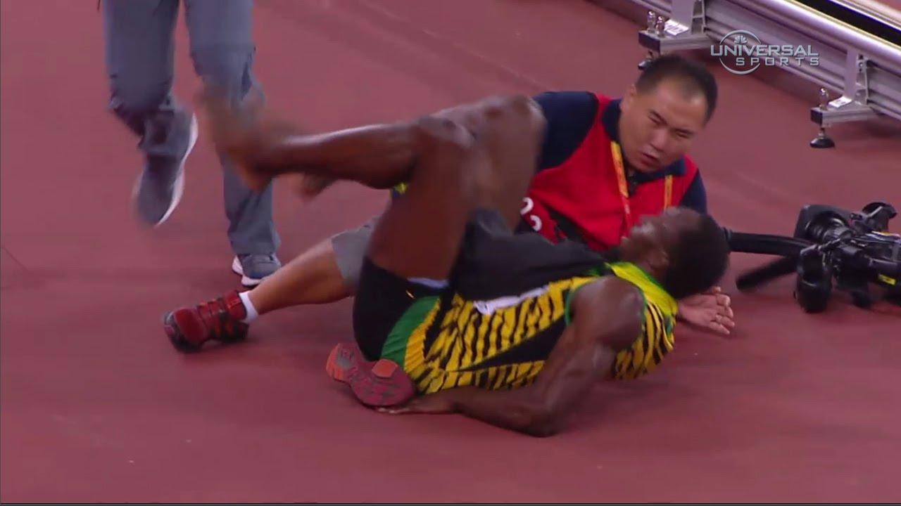 Usain Bolt hit by camera man - Universal Sports