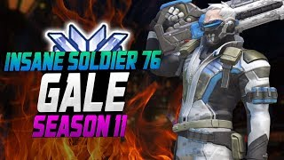 INSANE Soldier 76 - GALE! 45 ELIMS! [ OVERWATCH SEASON 11 TOP 500 ]