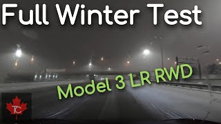 Part 2: Comprehensive Testing of Tesla Model 3 RWD During Canadian Snow Storm