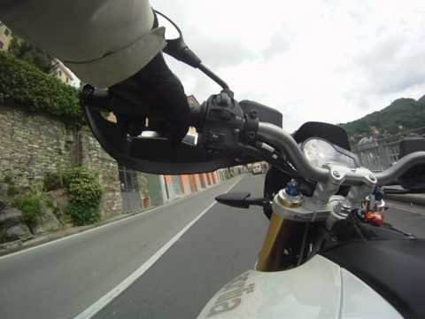 Aprilia Dorsoduro 750 Momo test GoPro HD Hero cam on board Video