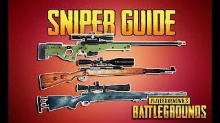 PLAYERUNKNOWN'S BATTLEGROUNDS SNIPER GUIDE! PUBG GUN GUIDE! TrainingGrounds Episode 5! PUBG LIVE!
