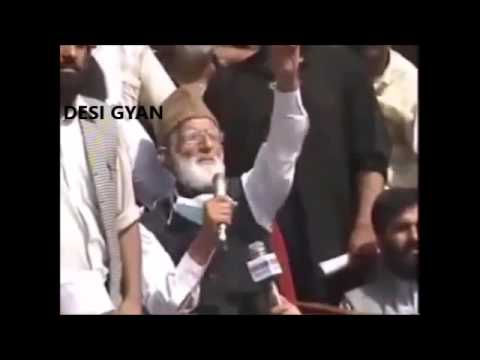 Syed Geelani exposed - No secularism, ONLY Islam for Kashmir