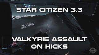 Star Citizen 3.3 Valkyrie Assault vs Ground Vehicles