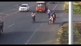 CİNAYET. GİBİ. KAZA. Güvenlik Kameralarında Dikkatsiz Sürücü Motosikletini Ölüme Kırdı