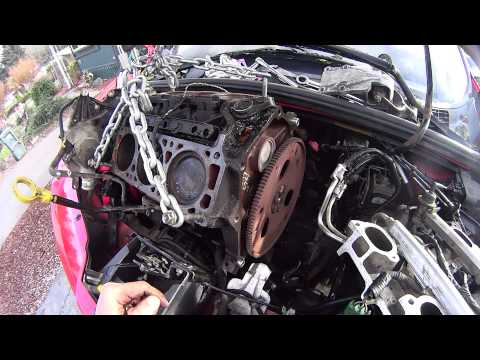 GM 3400 3.4 Engine / Motor Removal Coming Out The Top No Cradle Drop