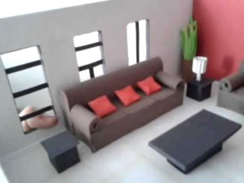 Maqueta dise o de sala youtube for Muebles la fabrica sofas