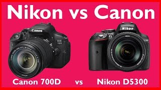 Nikon D5300 vs Canon 700D Hindi | Photography Tips and Tricks in Hindi