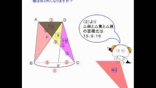 先生-小5算-面積32-高さと面積 ... : 円面積の求め方公式 : すべての講義