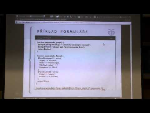 DRU-04 Drupal, 26. dubna 2011 - 6/6 - Úvod do vývoje Drupal modulů