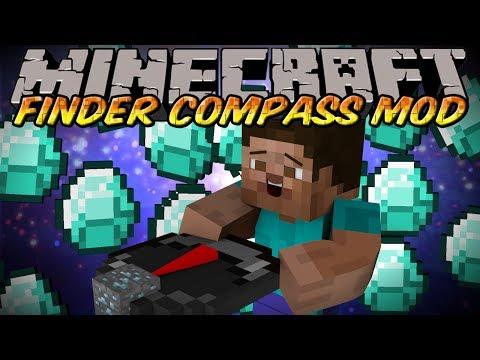 Minecraft Mod - FINDER COMPASS MOD! - DIAMOND RADAR!