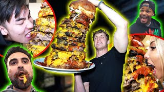 YOUTUBERS EAT THE WORLD'S BIGGEST CHEESEBURGER!