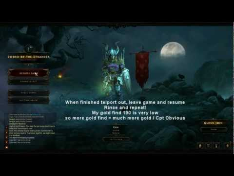 Diablo 3 gold farming up to 600k gold/hour
