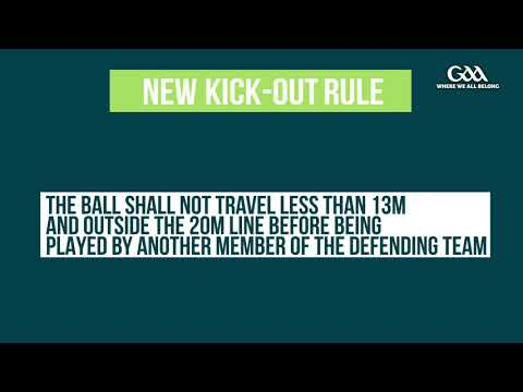 GAA Rule Changes Explained - New Kick-Out Rule