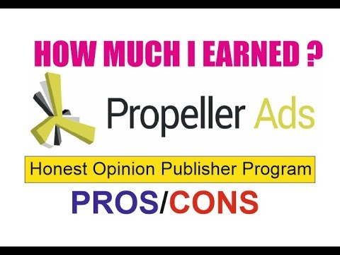 Propeller Ads Publisher Program Earnings Review Plus Interface Explained In Hindi
