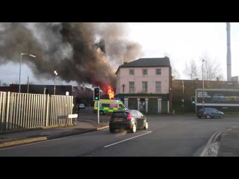 Fire at site of disused Birmingham Arms pub in Winson Green (Mark Samuels)