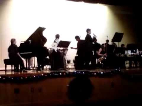 New Smyrna Beach High School jazz band dec 18 2012 xmas
