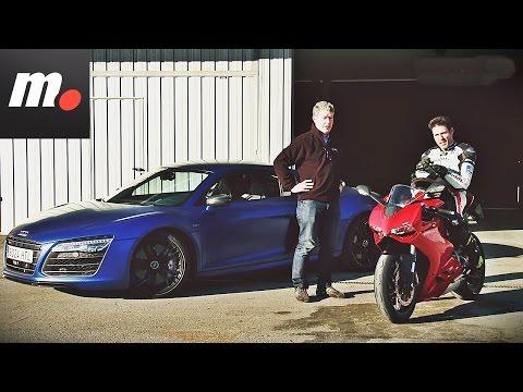Ducati 899 Panigale vs Audi R8 V10