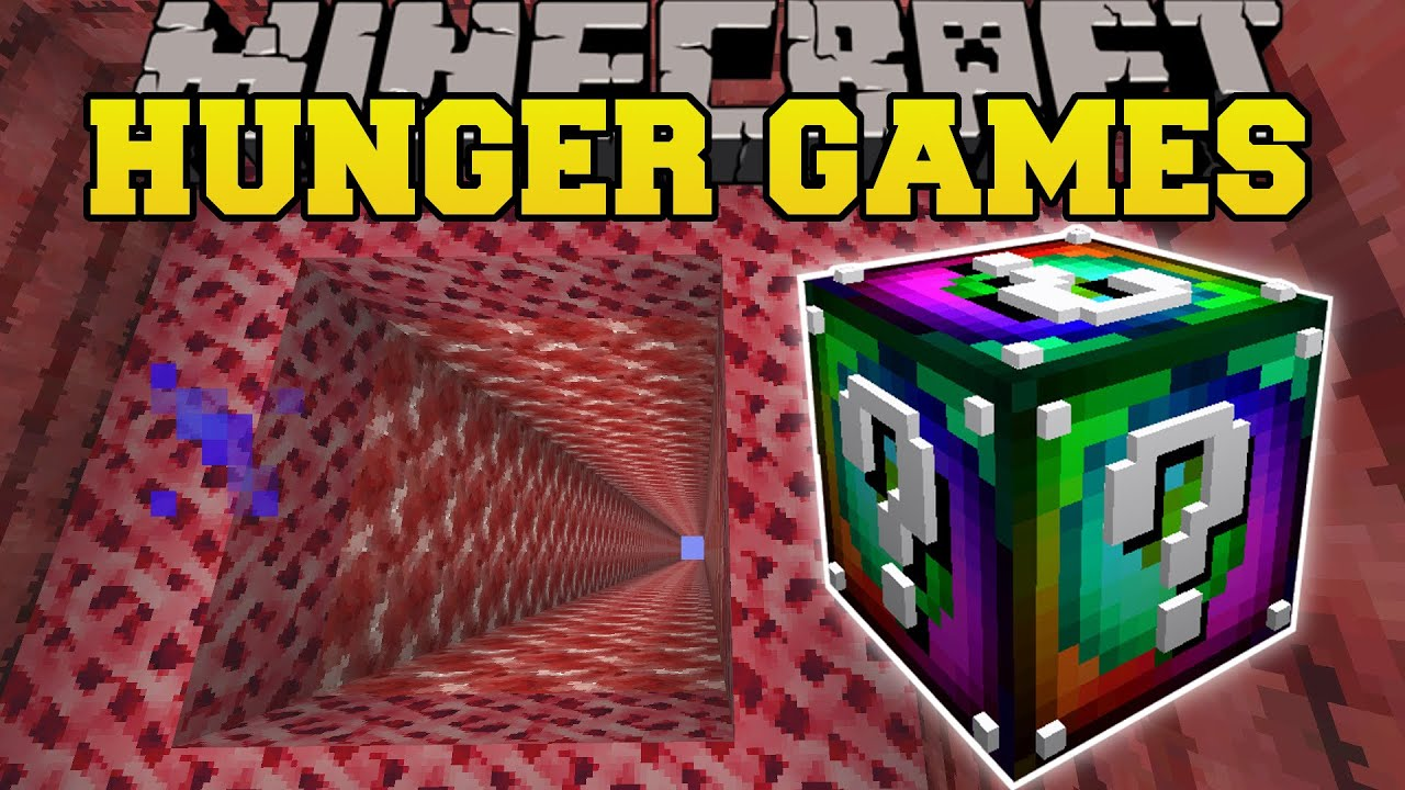 Dimension jumper hunger games lucky block mod modded mini game