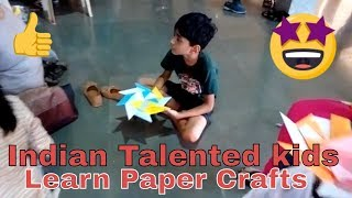 Kids doing Amazing Art work | Talented Indian Kids | Paper Crafts
