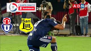 Universidad De Chile 3 San Luis 0 - Campeonato Scotiabank 2018 - ADN Radio Chile 91.7
