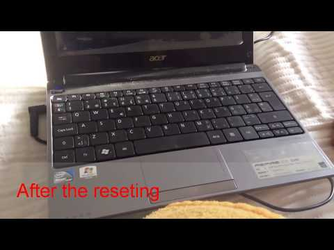 How to reset acer aspire one d260 to factory setting