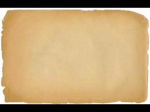 DIY: Cómo hacer que tus hojas de papel parezcan antiguas :) - YouTube