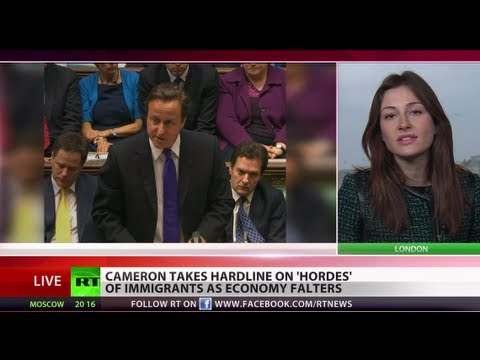 No more 'something for nothing': Cameron takes hardline on 'hordes' of immigrants