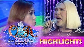 It's Showtime Miss Q and A: Vice fights with the Q & A candidate