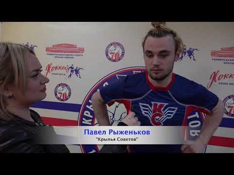 Павел Рыженьков и Илья Беляев после тов игры КС-СХЛ