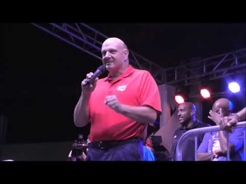 Steve Ballmer - Clippers Season Ticket Holder Party at Universal Studio