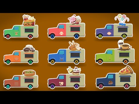 Food Vehicles | Vehicles for Children | Learn Vehicles for Kids & Toddlers