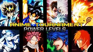 Anime Tournament Power Levels Pt.1