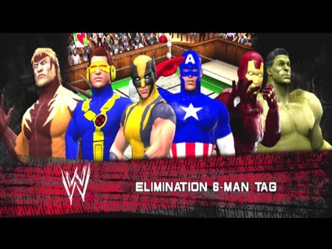 X-MEN vs The Avengers [6 Man Elimination Tag] - WW